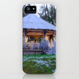Kiosk in winter iPhone Case