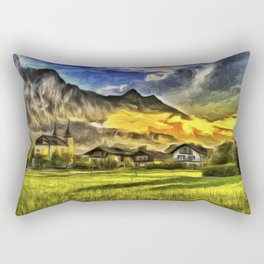 Saint Lorenz Austria Van Goth Rectangular Pillow
