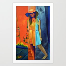 Join in the shadow dance Art Print