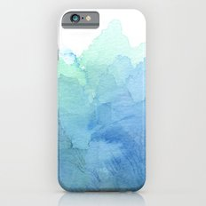 Abstract Watercolor Texture Blue Green Sea Sky Colors iPhone 6s Slim Case