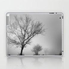 Three tree silhouettes in the rain Laptop & iPad Skin