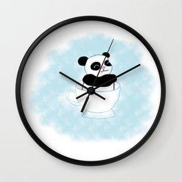 Teacup Panda Wall Clock