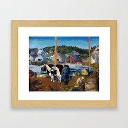 George Bellows Ox Team, Wharf at Matinicus Framed Art Print