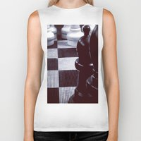 chess Biker Tanks featuring Chess Perspective by Thick Paint Works