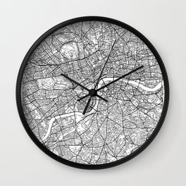 London Map White Wall Clock