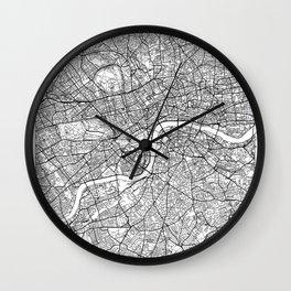 London Map White Wall Clock