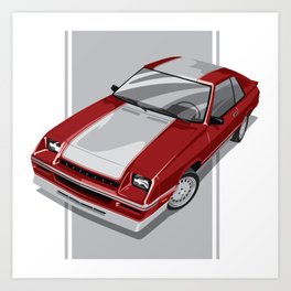 1983 L-Body Charger Red Art Print