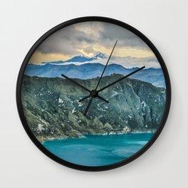 Quilotoa Lake, Latacunga Ecuador Wall Clock