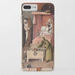 Hieronymus Bosch - Death and the Usurer iPhone Case