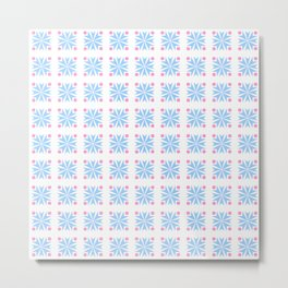 Stars 39- blue and pink Metal Print