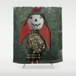 pumpkin girl Shower Curtain