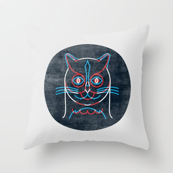 The Pussycat and The Owl Throw Pillow