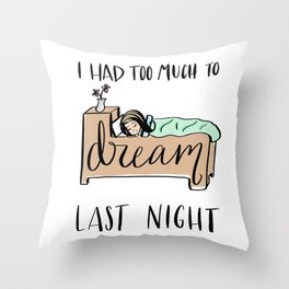 a different kind of buzz Throw Pillow