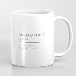 Ailurophile Definition Coffee Mug