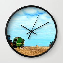 Making Hay Rolls Wall Clock