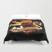 gryffindor Duvet Covers featuring Gryffindor by Markusian