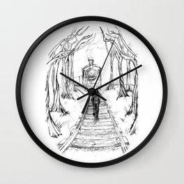 Old Railroad Wall Clock