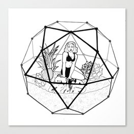 Terrarium Queen Canvas Print