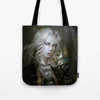 castlevania Tote Bags featuring Alucard. Castlevania Symphony of the Night by Nell Fallcard