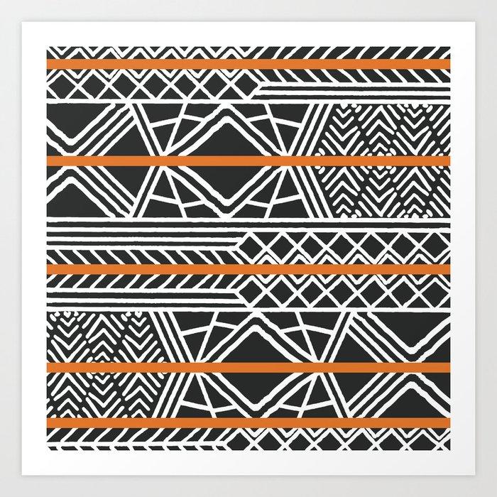 Tribal ethnic geometric pattern 022 Art Print