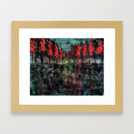 Urban Embers Framed Art Print