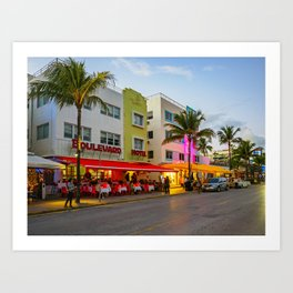 South Beach, Miami, Florida 2 Art Print