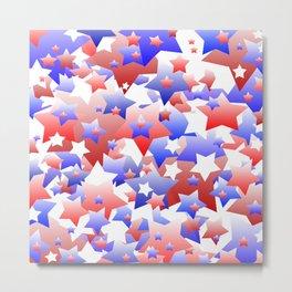 Patriotic Stars Metal Print