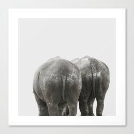 Monochrome - Big buddies Canvas Print