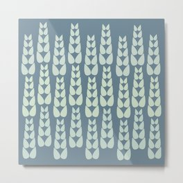 Neutral Corn Pattern Metal Print