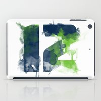 seahawks iPad Cases featuring 12th man by Corina Rivera Designs