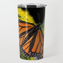 Orange Monarch Butterfly Travel Mug