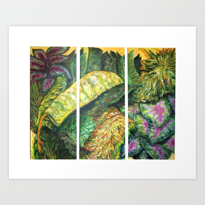 Tropical Triptych Art Print