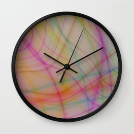 Colorful wavy lines Wall Clock