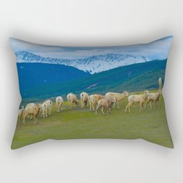 Female Mountain Goats on Old Fort Point in Jasper National Park, Canada Rectangular Pillow