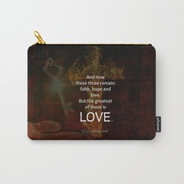 1 Corinthians 13:13 Bible Verses Quote About LOVE Carry-All Pouch