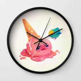 Bad ice cream must be punished Wall Clock