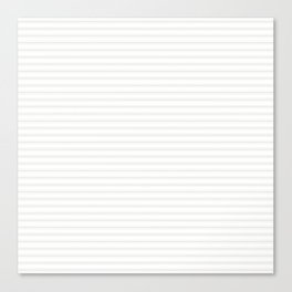 Creamy Tofu White Mattress Ticking Narrow Striped Pattern - Fall Fashion 2018 Canvas Print