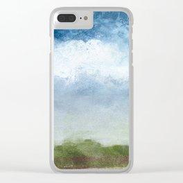 Foggy Bluff Clear iPhone Case
