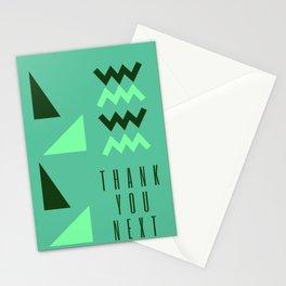 Green Triangles |  Thank U Next Ariana Stationery Cards