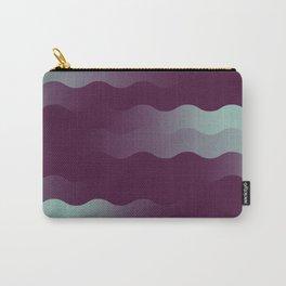 Mint Plum Gradient Wave Carry-All Pouch