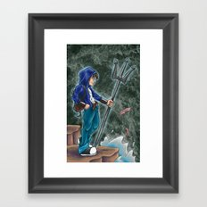 Percy Jackson, the son of Poseidon Framed Art Print