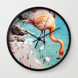 Flamingos on the Beach #society6 #decor #buyart Wall Clock