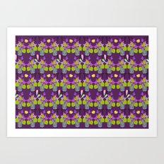 Oppulent Violets pattern Art Print