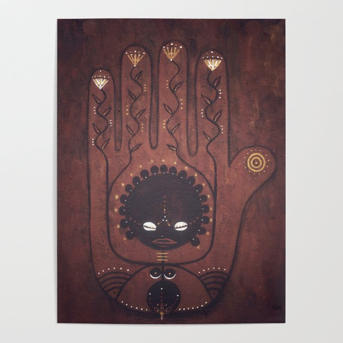 African Creation Goddess Poster