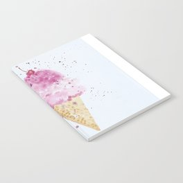 Ice cream Love Summer Watercolor Illustration Notebook