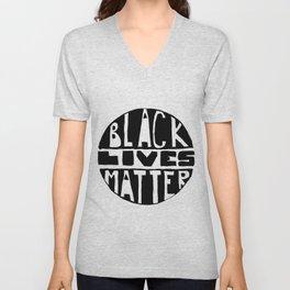 Black Lives Matter Filled Unisex V-Neck