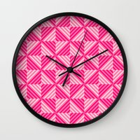 pyramid Wall Clocks featuring Pyramid by Matt Borchert