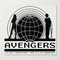 avenger Canvas Prints featuring avenger by Karen Yuill