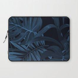 Navy Leaf Laptop Sleeve