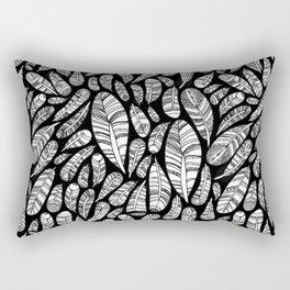 Tribal Feathers // Black Rectangular Pillow